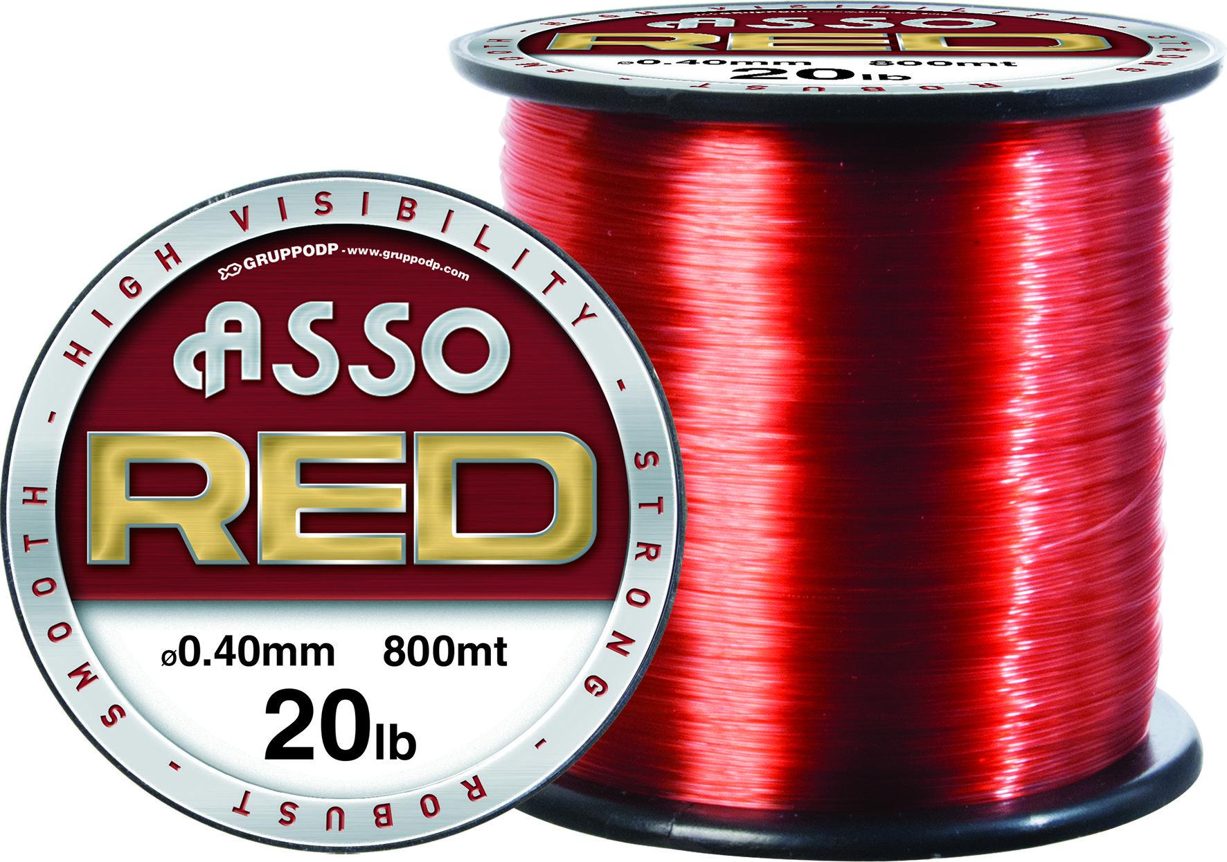 Red 4oz Spool Asso HARD SKIN Fishing Line