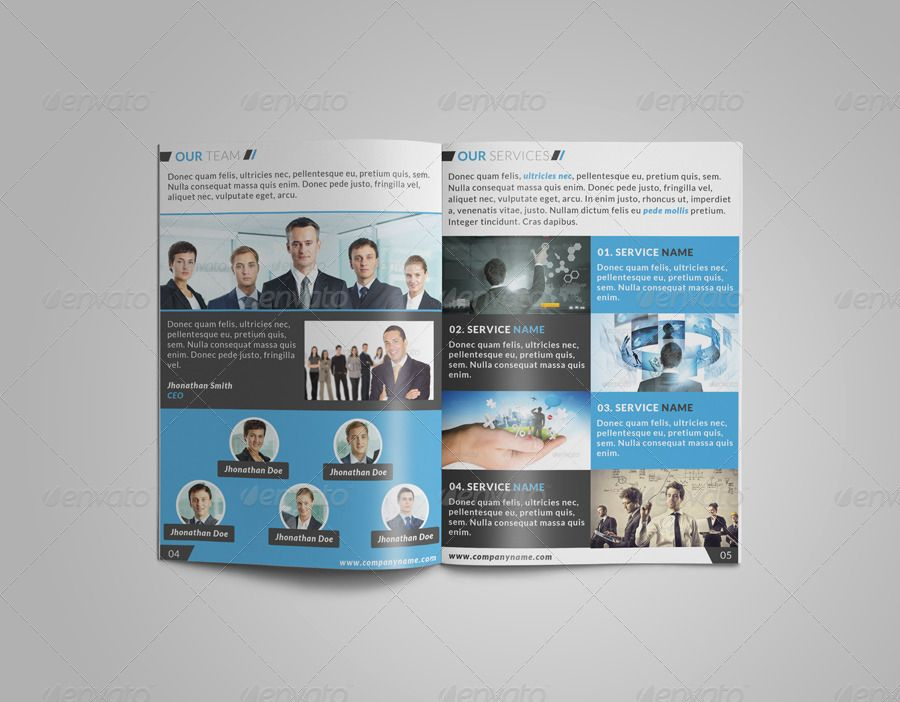 8 Page Corporate Bi Fold Brochure Template 2 Bi Corporate Page