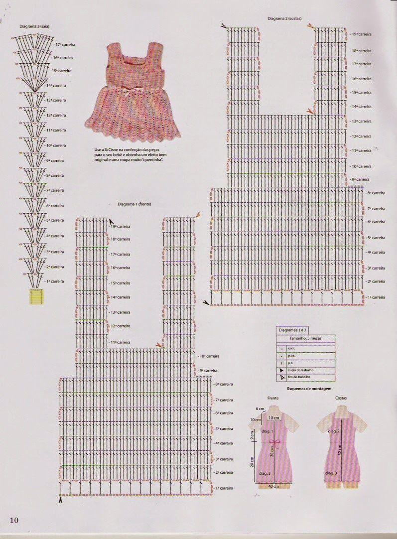 Схема верха для детского платья