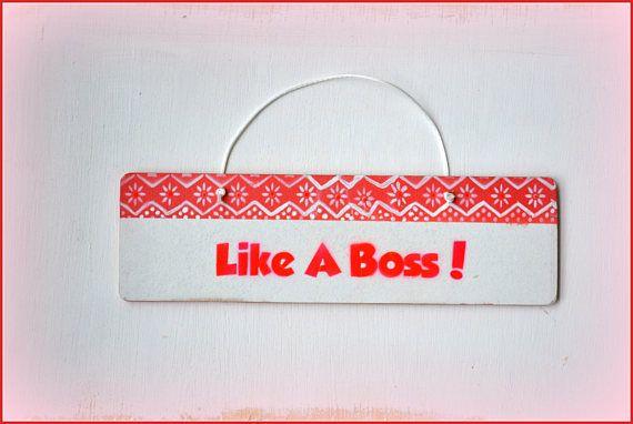 Like A Boss, girls bedroom door sign makes the perfect girls door