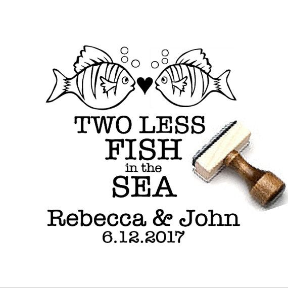 Two Less Fish in the Sea Personalized by SouthernPaperAndInk