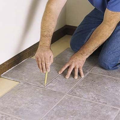 how to lay a tile floor