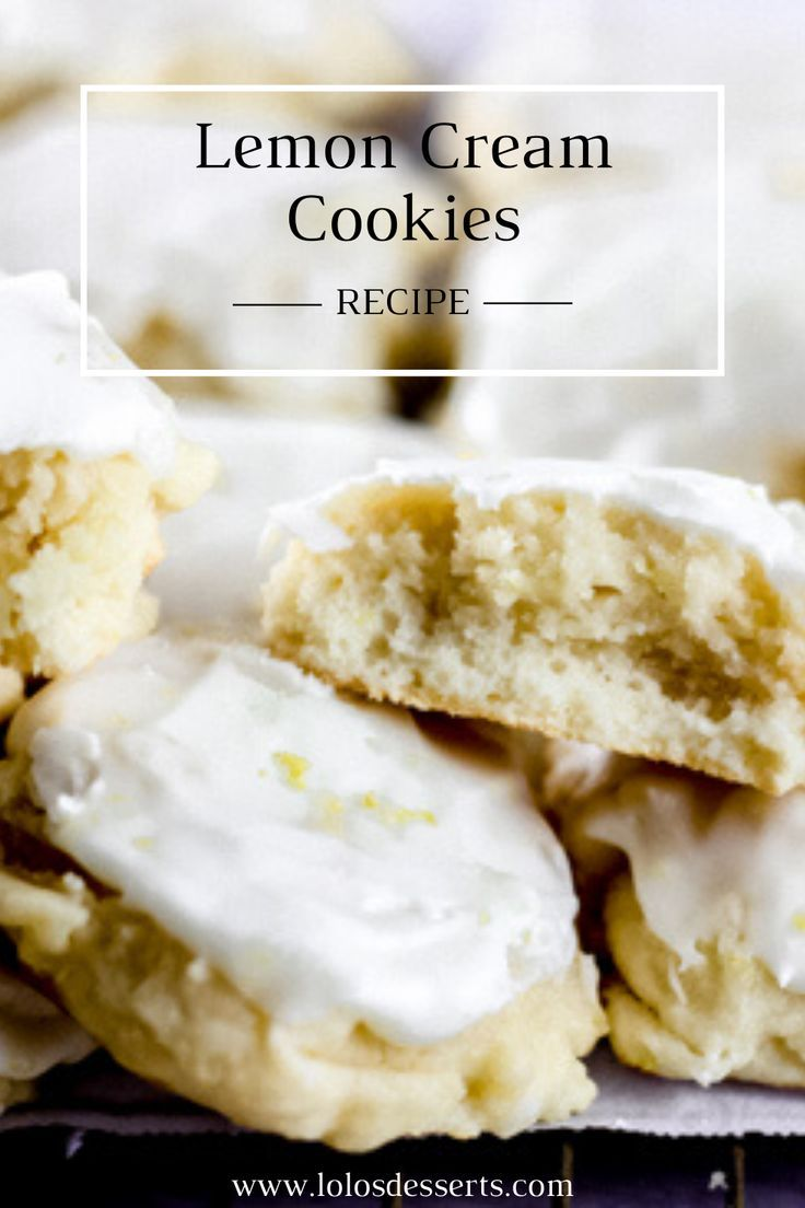 Lemon Cream Cookies are soft and creamy cookies with the perfect lemon flavor and topped with a sweet lemon icing. Easy to make and always a big hit! #lemoncreamcookies #lemoncookies #cookies #lemoncream #easycookierecipes #cookierecipes #lemonrecipes #lemon