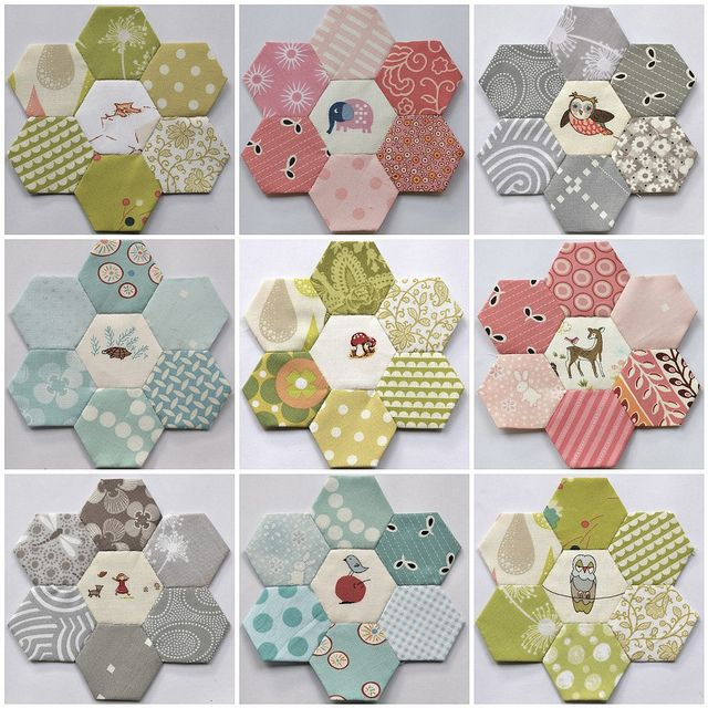 Had to repin this from some random person, because I recognised the hexies my friend Clair has made!  Hexie mosaic by clair101, via Flickr