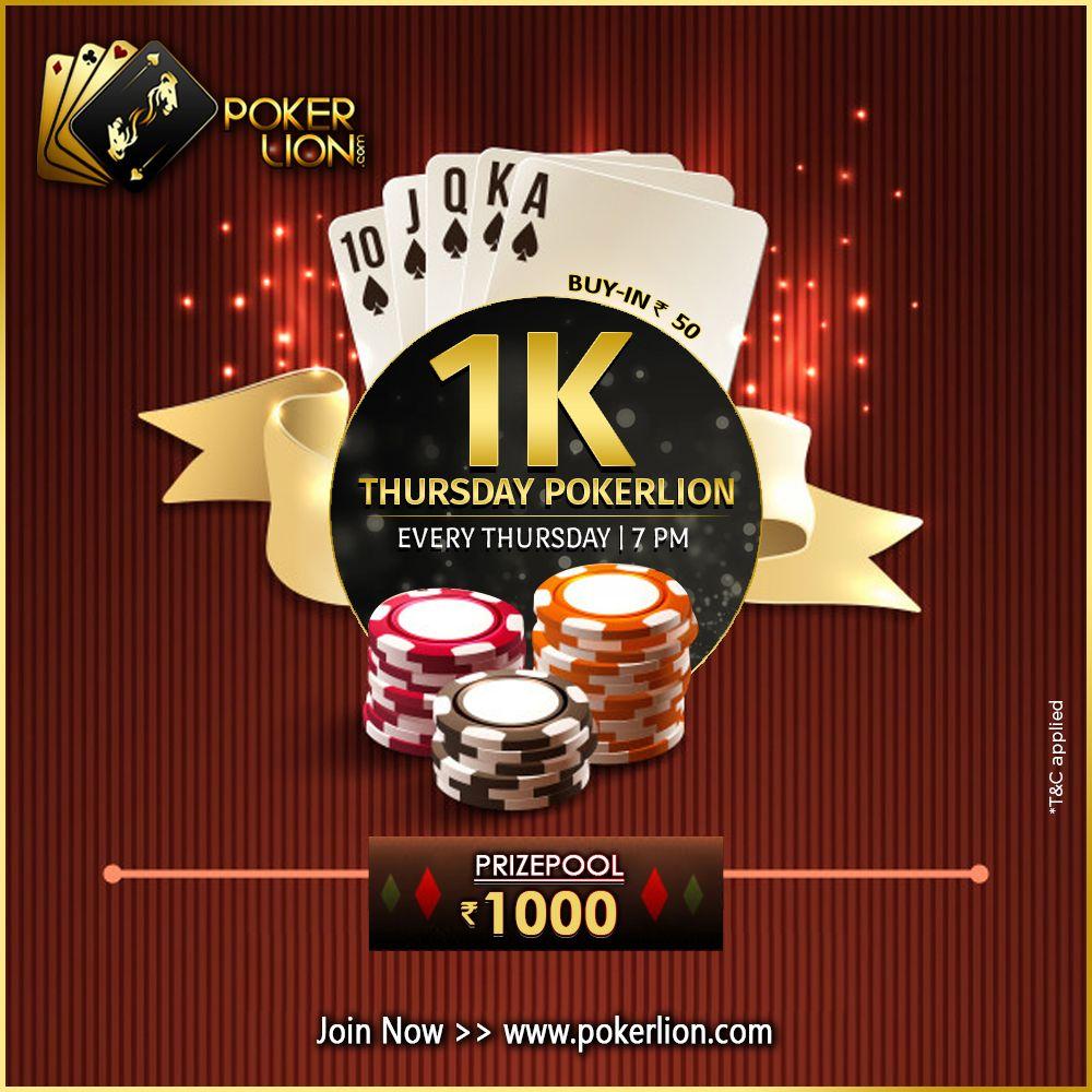 1K THURSDAY POKERLION Money games, Poker, Online poker