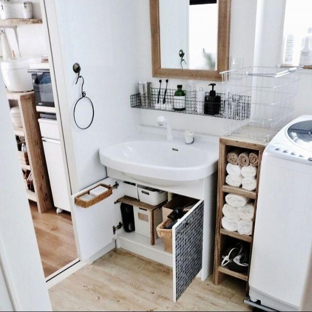 収納 収納の見直し 洗面所 洗面台下 サニタリー などのインテリア