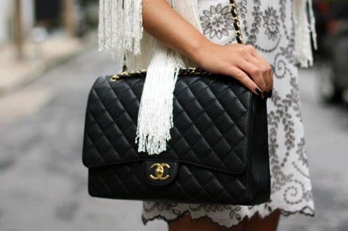 abe464aab7dd Chanel maxi classic flap caviar bags to own pinterest jpg 500x333 Chanel  maxi jumbo flap bag