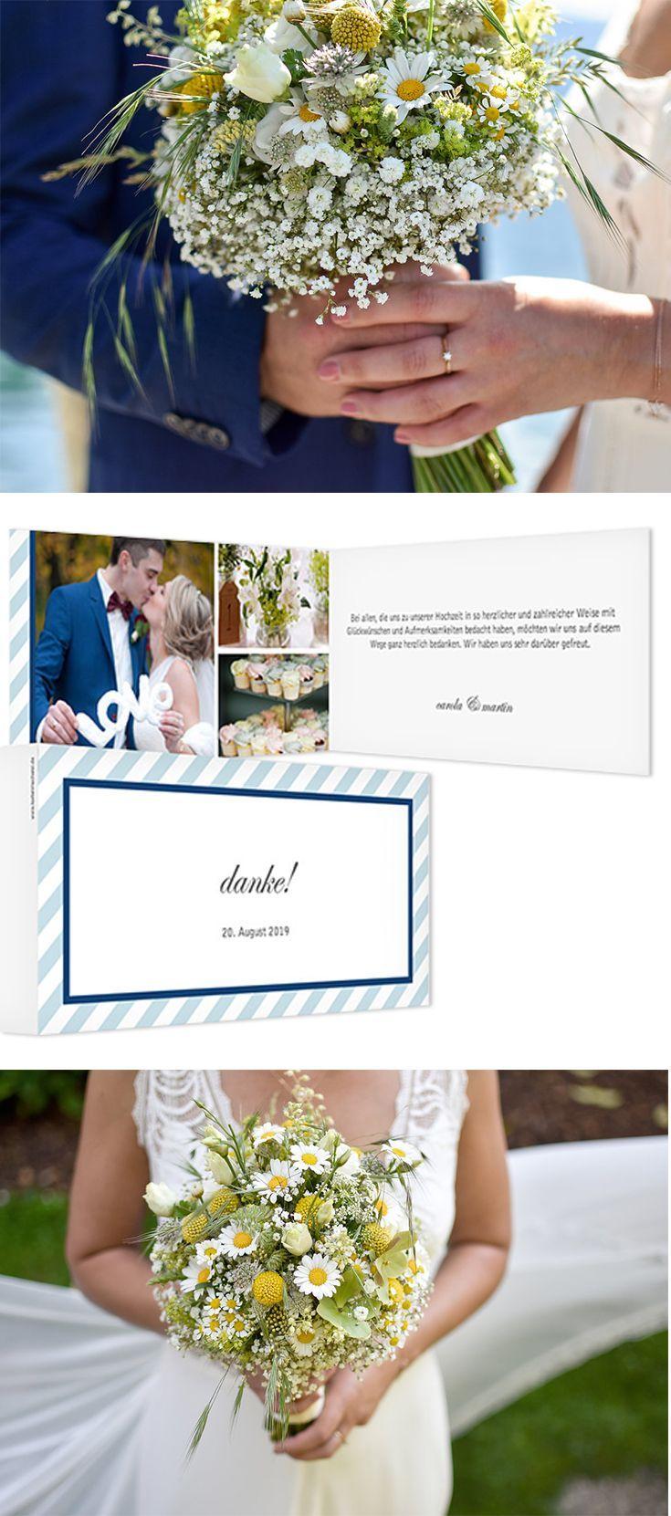Dezent gestreifter Rahmen für eure schönsten Hochzeitsfotos: die ...