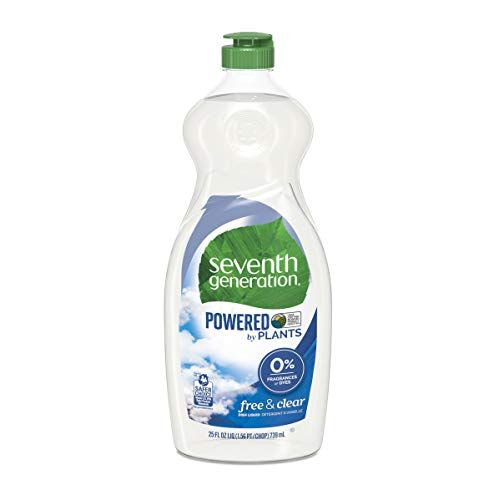 Seventh Generation Dish Liquid Soap Free  Clear 25 oz Pack of 6