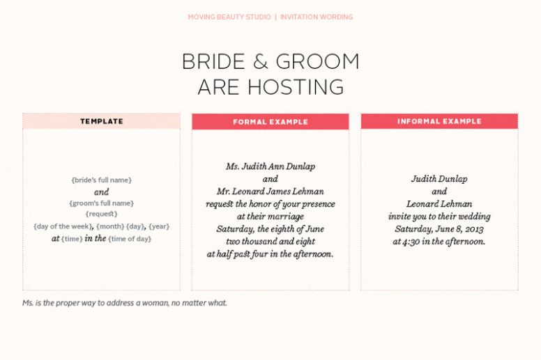 Wedding Invitations Wording Hosting Fun