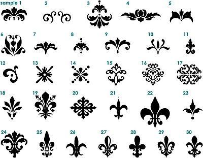 Love these fleur de lis designs