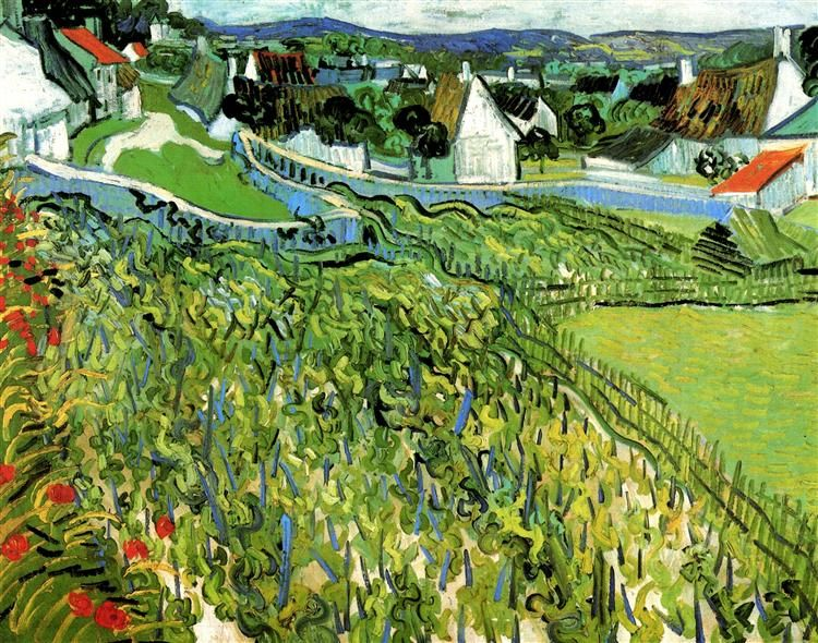 Vineyards with a View of Auvers - van Gogh Vincent - WikiArt.org - the encyclopedia of painting