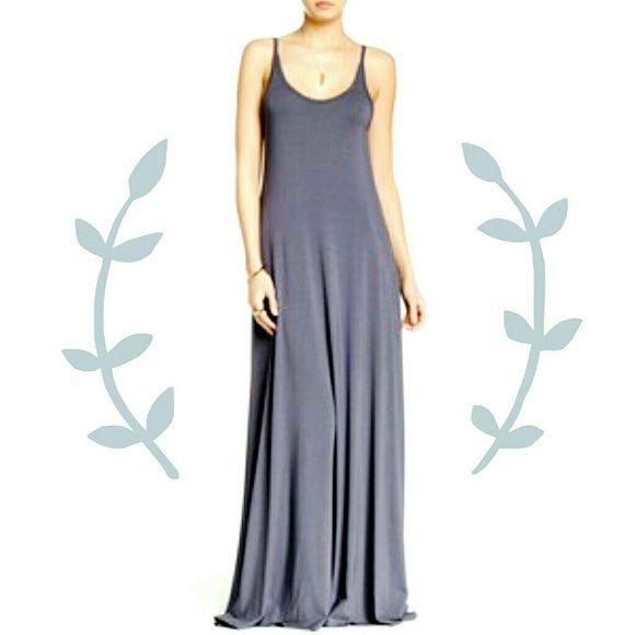 Deep scoop back maxi dress