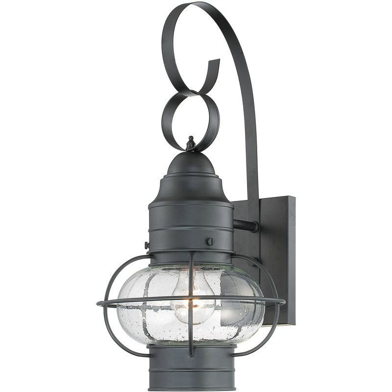 Cooper 1 Light 21 Tall Outdoor Wall Sconce With Seedy Glass Outdoor Wall Lantern Outdoor Light Fixtures Outdoor Sconces