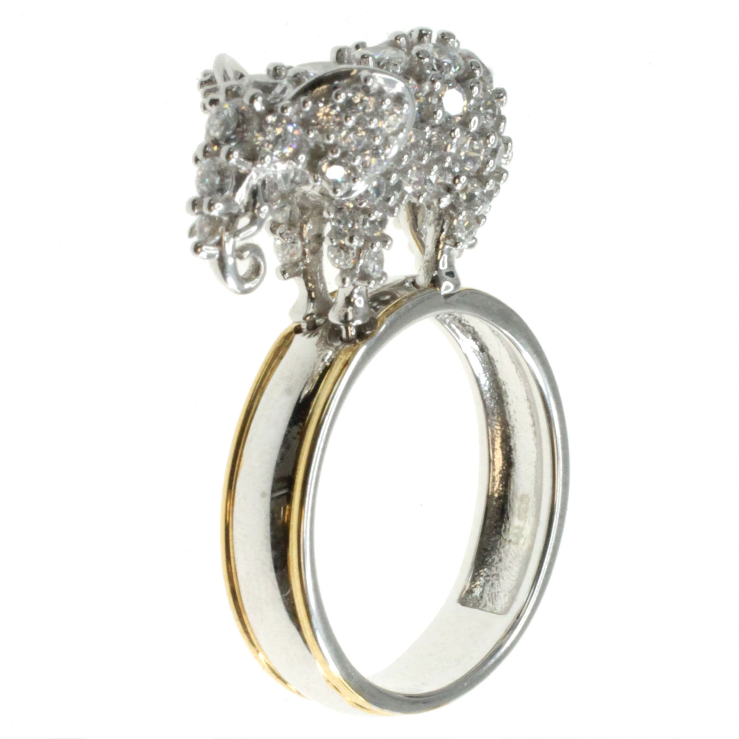 Michael Valitutti 'Elephant' Cubic Zirconia Stacking Ring