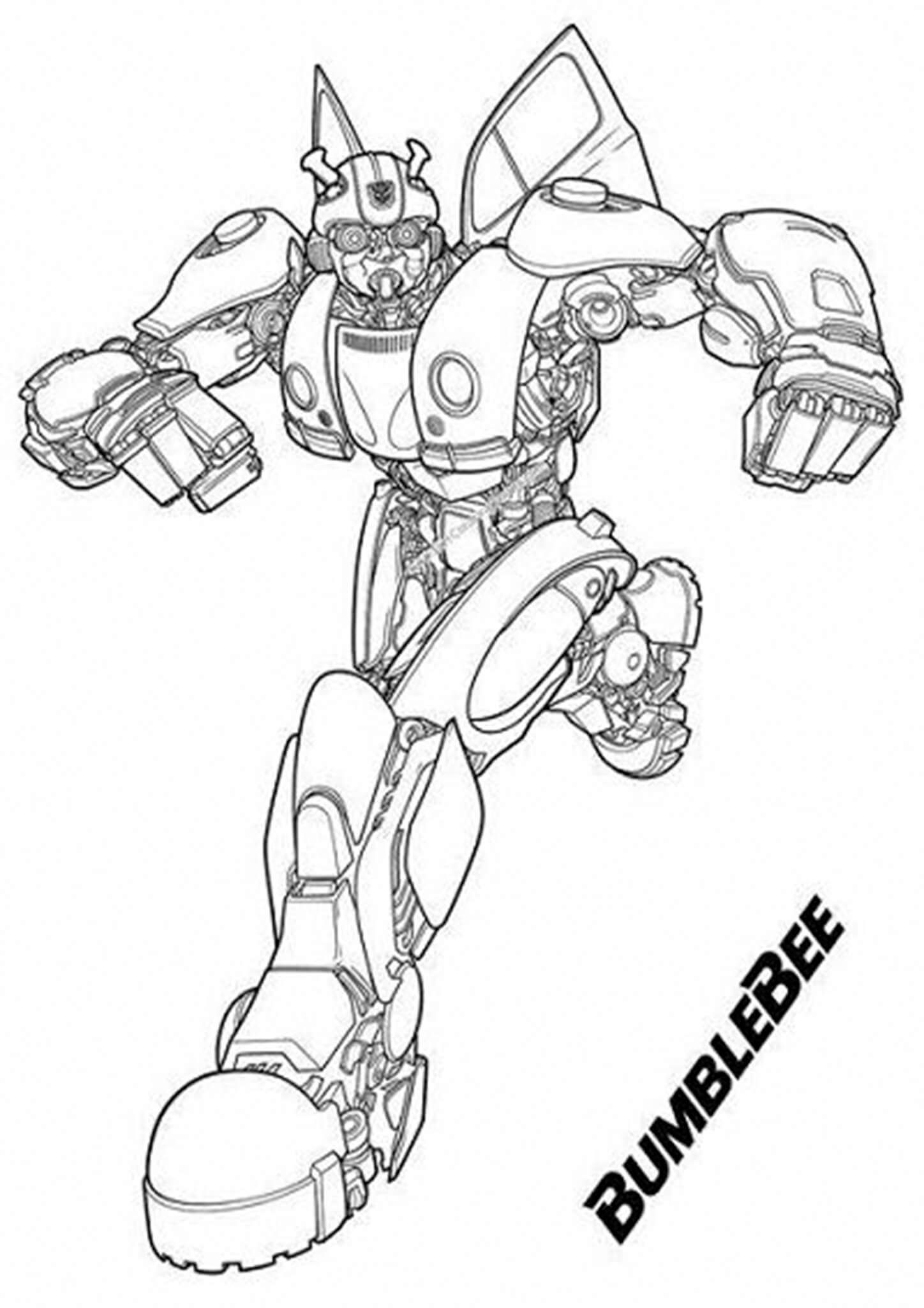Transformer Bumble Bee Coloring Page Unique Bumblebee