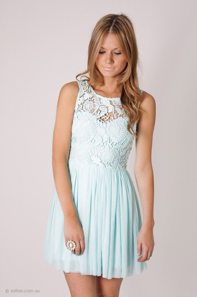 So pretty!   tea party lace bodice cocktail dress- baby blue