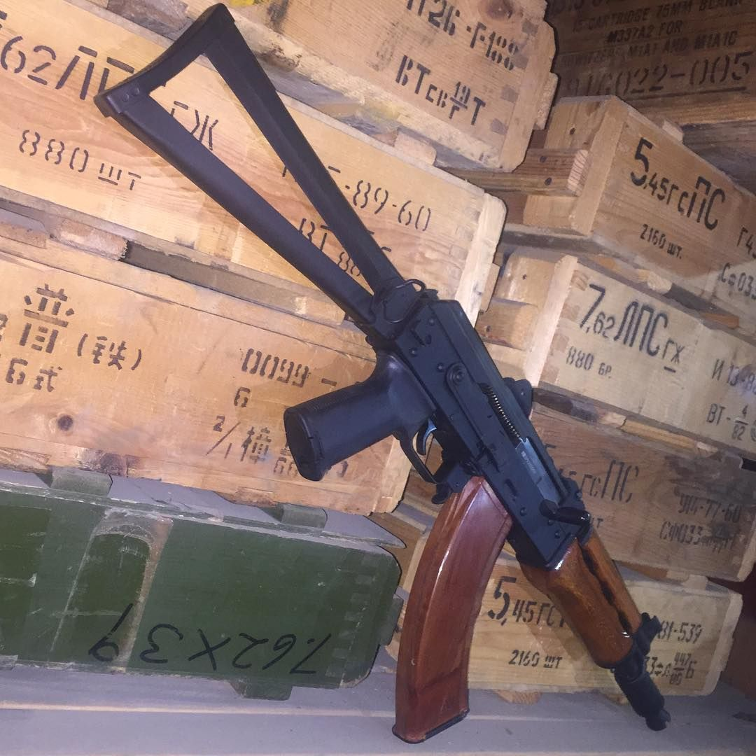 SBR'ed #Yugo #PAP #M92 #762x39 modified to accept the Russian side