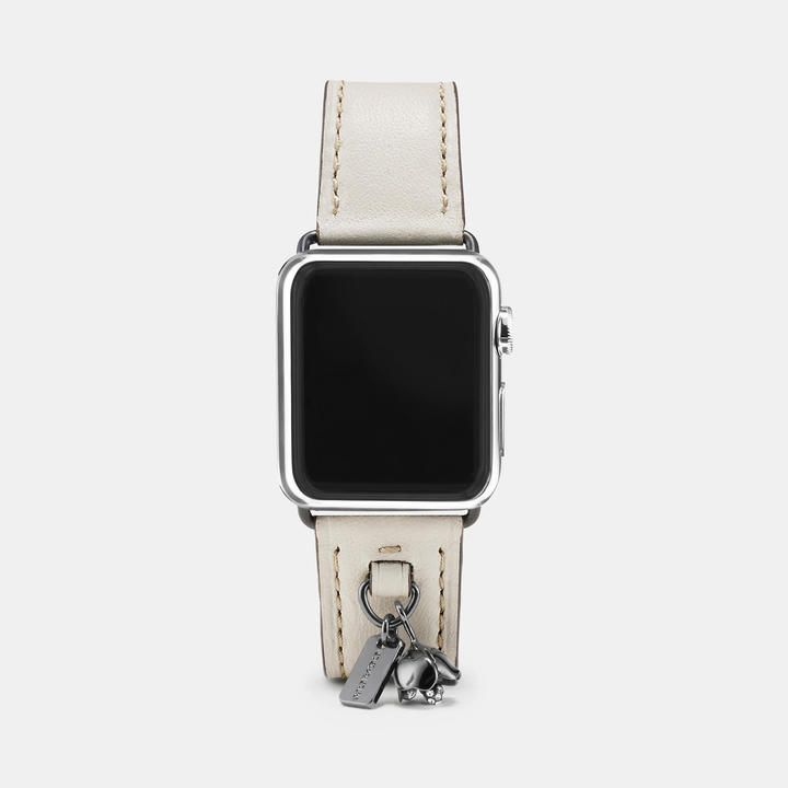 Coach Apple Watch Strap In Chalk Complement Your Apple Watch With A Band Crafted In Glovetanned Leather Fo Apple Watch Strap Apple Watch Leather Apple Watch