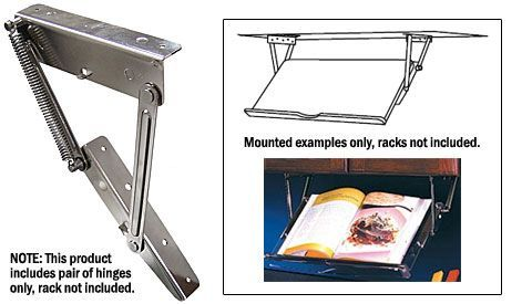 Knape And Vogt Hinges For Under Cabinet Pull Down Racks Pair Zinc The Are Perfect Use On Not Included Designed To Fit