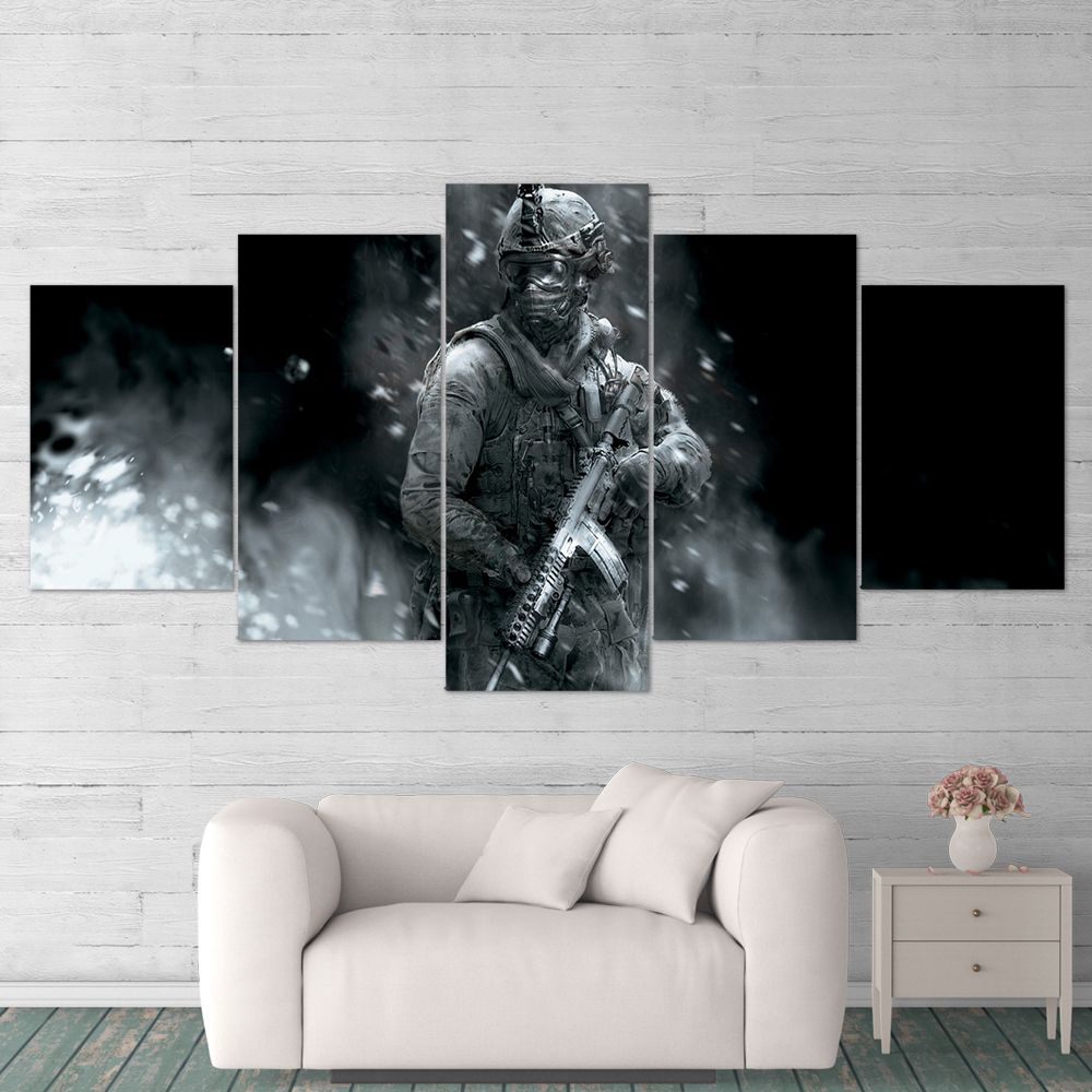 Call Of Duty 5 Piece Canvas Wall Art Gaming Canvas 5pccod023 Canvas Wall Art Gaming Wall Art Wall Canvas