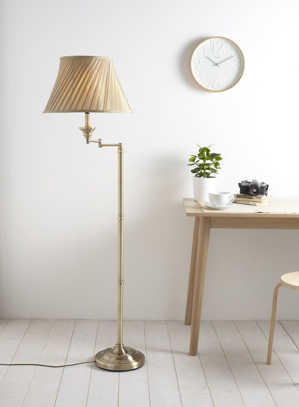 New Swing Arm Floor Lamp - BHS   Living room   Pinterest   Swing arm ...