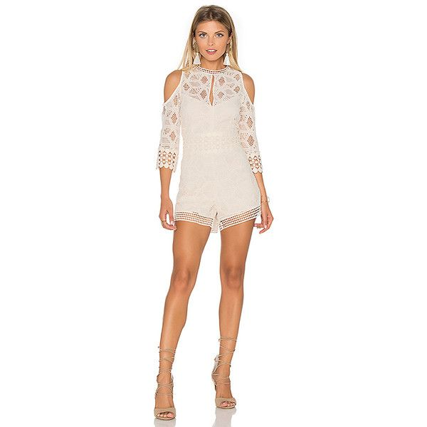 SAYLOR Jaden Romper ($260) ❤ liked on Polyvore featuring jumpsuits, rompers, rompers & jumpsuits, cut out jumpsuit, saylor, cut-out jumpsuits, playsuit jumpsuit and playsuit romper
