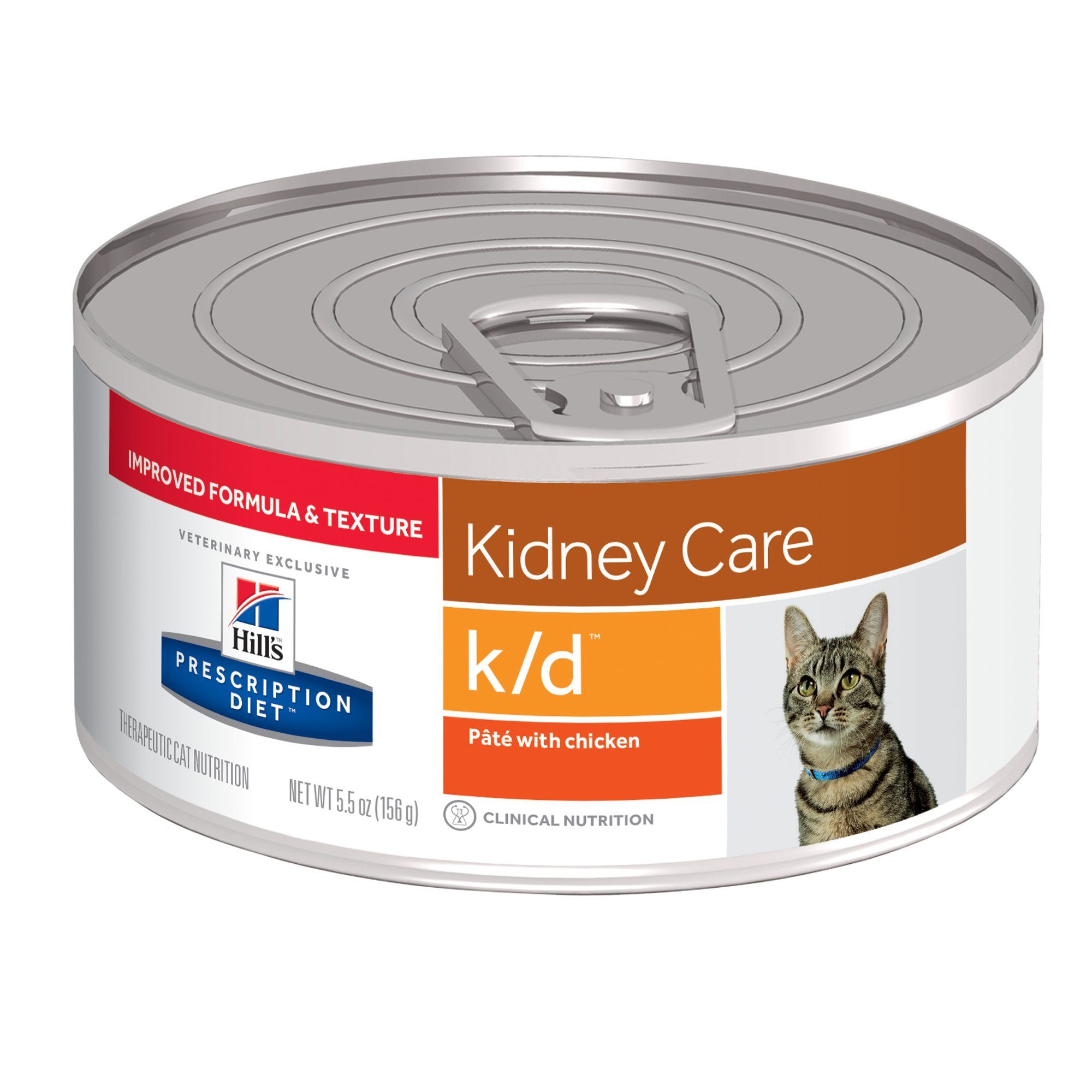 Hill S Prescription Diet K D Kidney Care With Chicken Canned Cat Food 5 5 Oz Case Of 24 Canned Cat Food Cat Food Chicken Flavors