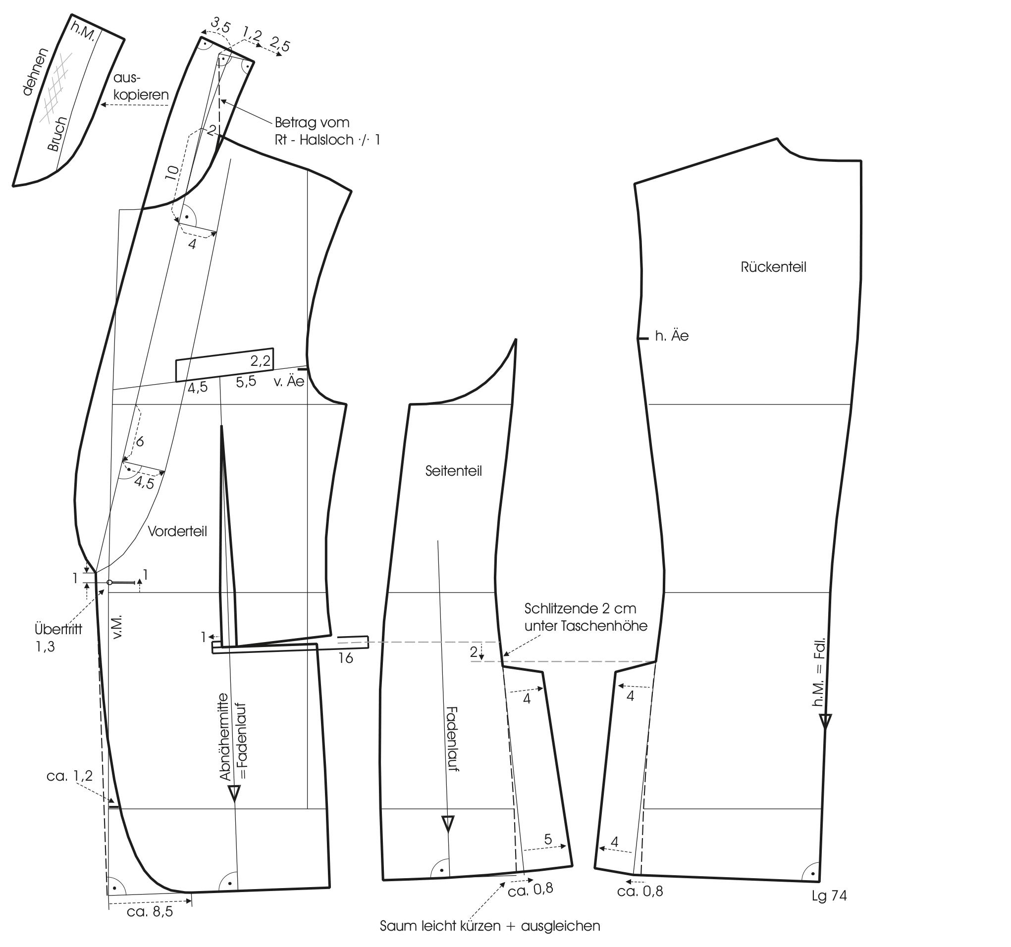 Slimline Suit Pattern Construction M Mueller Sohn Mens