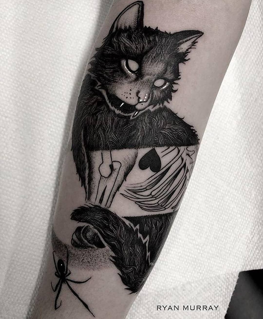 We Adore This X Ray Cat Tattoo By The Talented Ryanmrray Body Art Tattoos Under Skin Tattoo Dark Tattoo