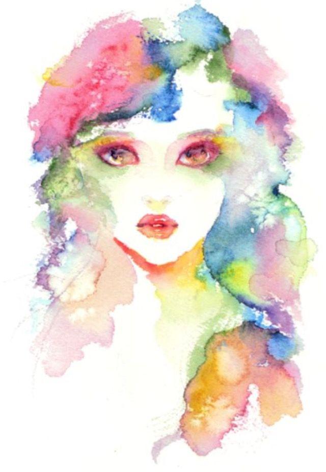 Pin By Ghada Baaqeel On Abstract Paint Art Watercolor Mermaid