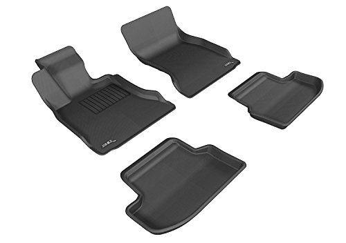3d Maxpider Complete Set Custom Fit Allweather Floor Mat For Select Bmw 5 Series F11 Models Kagu Rubber Black Cli Carbon Fiber Bmw 5 Series Grey Floor Mat