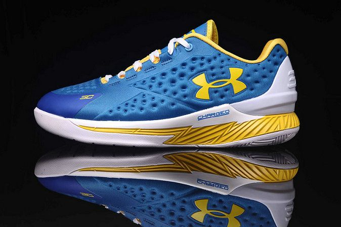 Under Armour Curry 1 One Low Home Away Photo Blue Gold  2b9117173096