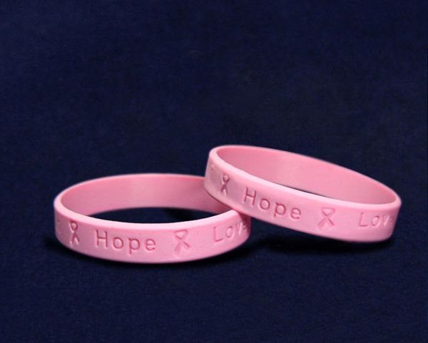 Pink Silicone Bracelets Wholesale Pink Breast Cancer