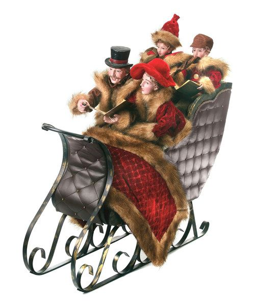 Dickens Family Sleigh Figurine Xmas decorations Pinterest