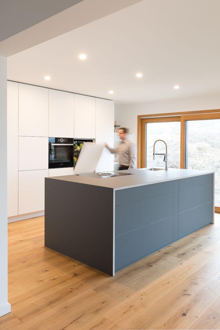 Photo of Kitchen island   Cooking island   gray   white   Designer kitchen   modern   handleless   s … – kitchen ideas