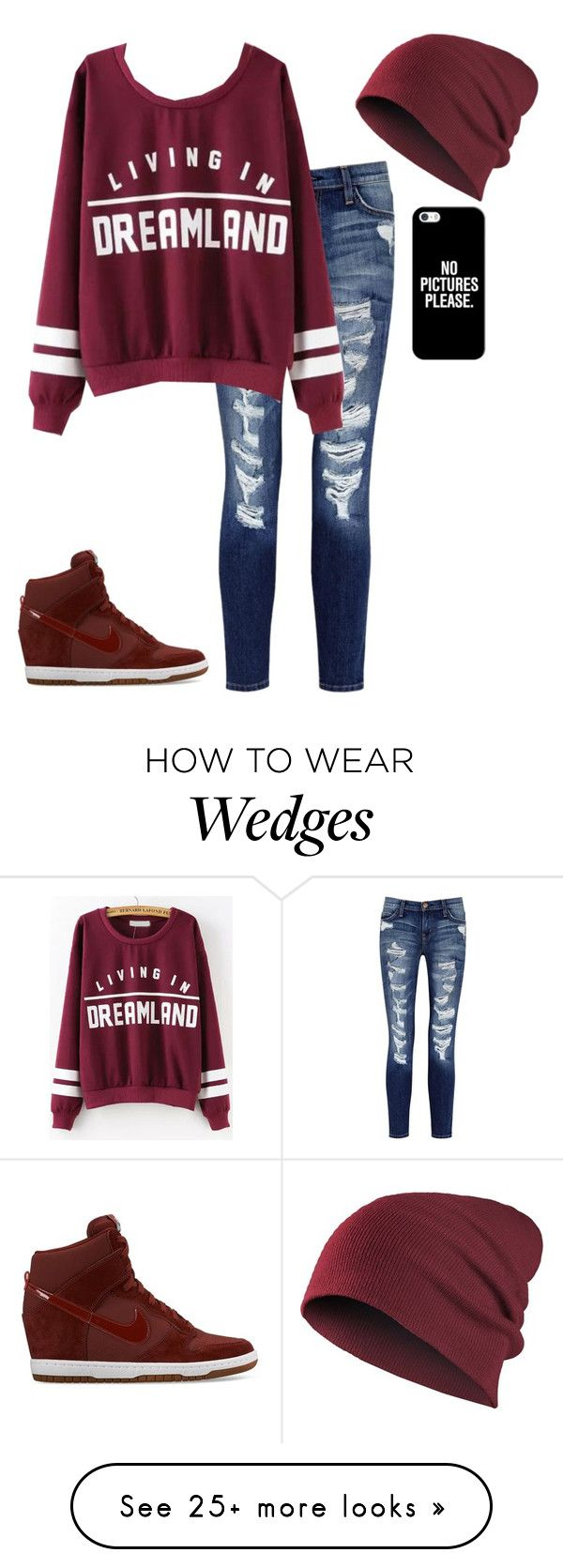 """""""Untitled #316"""" by lunar-desings on Polyvore featuring Current/Elliott, NIKE and Casetify"""