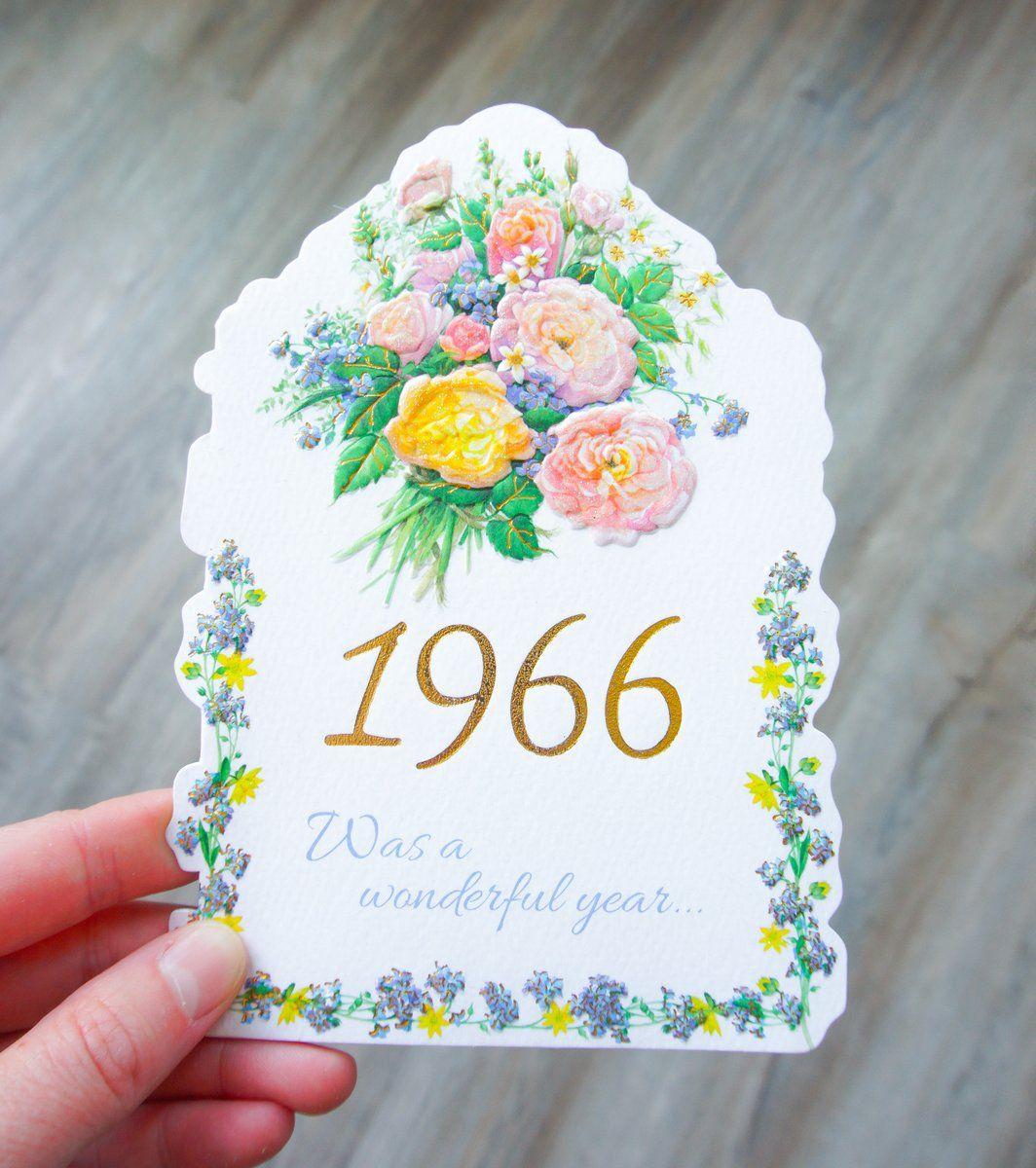 Year Of Birth Birthday Card 6 in 6  Birthday cards, Birth
