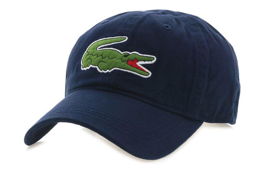 9e67e9679de0f Lacoste Big Crocodile CAP 100% Cotton Unisex Casual Hat Tennis Navy  RK8217-166  Lacoste  BaseballCap