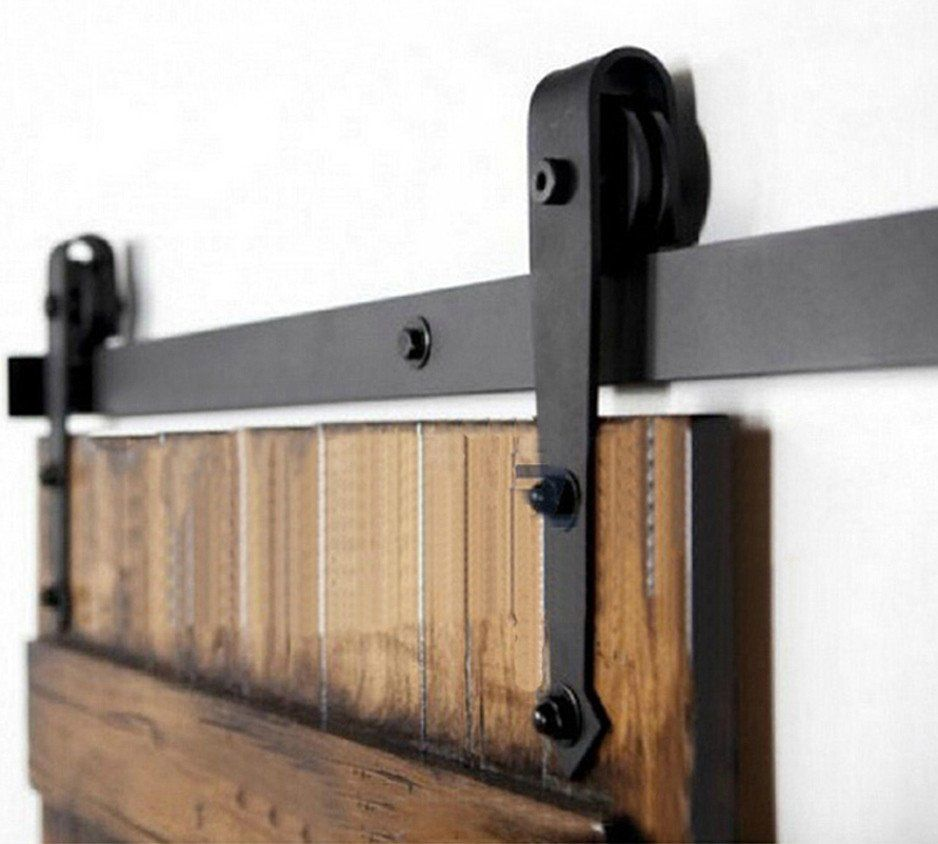 Custom Size Sliding Door Black Hardware 8ft 9ft 10ft 12ft 14ft 16ft 18ft Barn Doors Sliding Barn Door Interior Sliding Barn Doors