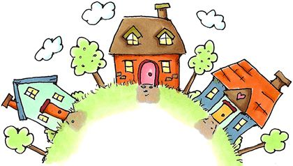 Neighborhood Arch Home Moving Rubber Stamps Drawing For Kids Everyday Art Doodle Paint