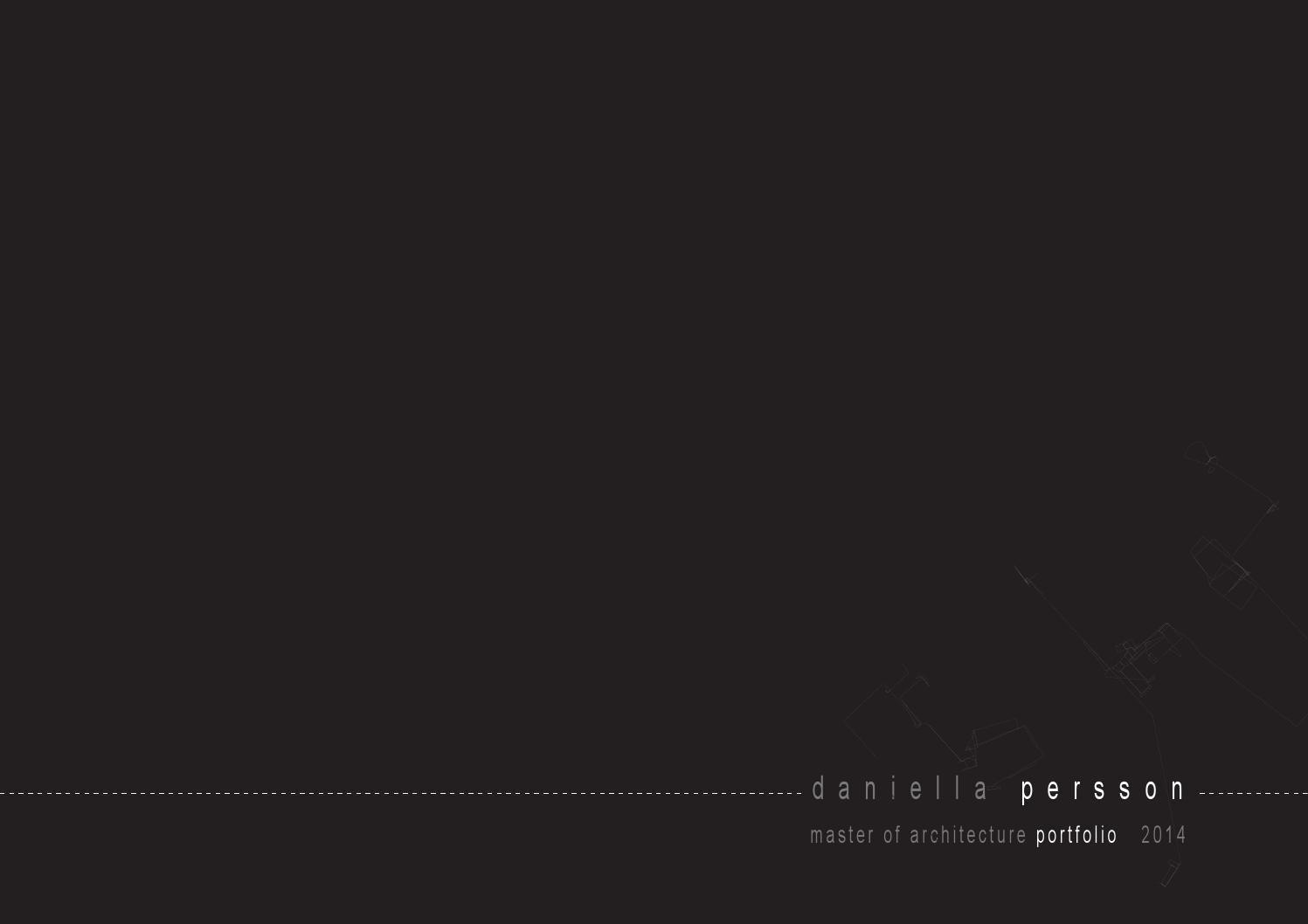 Architecture Portfolio by Daniella Persson   装帧设计