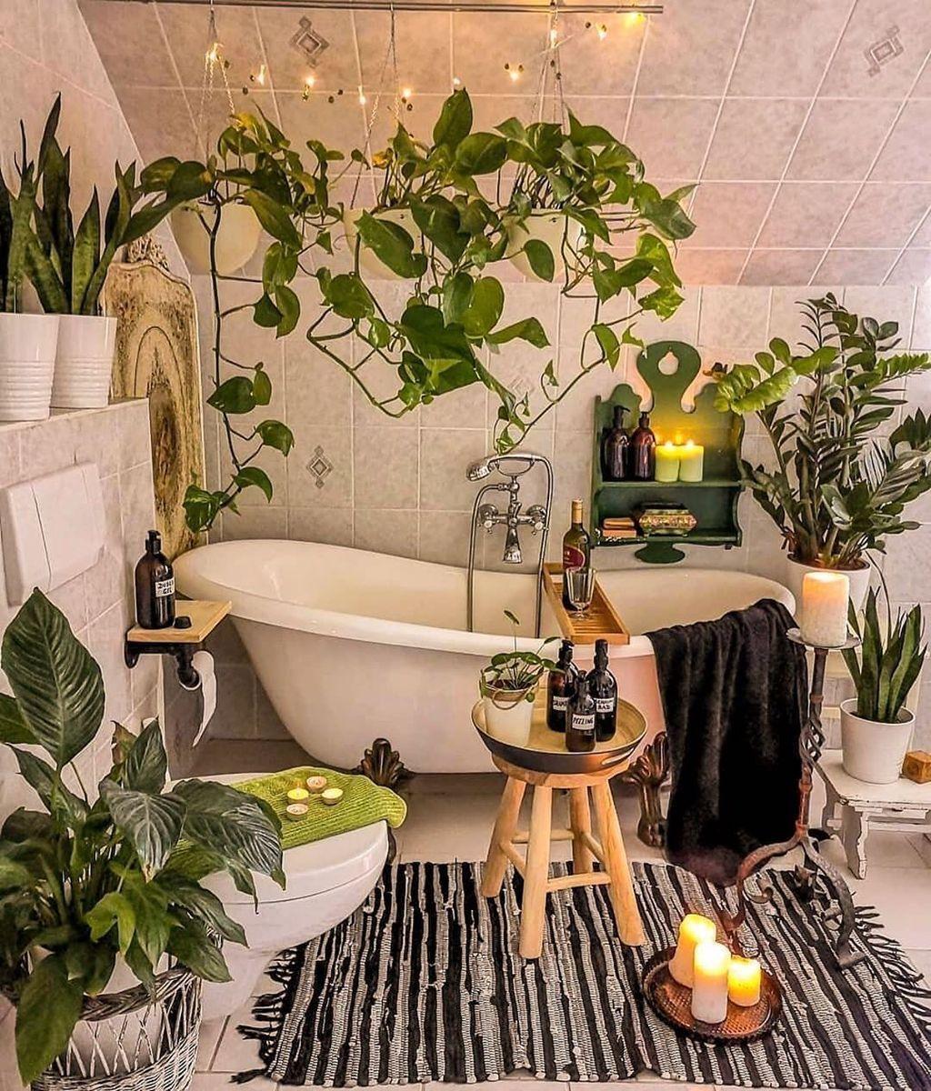 Jungle Bathroom Boho Decor