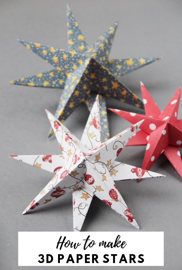 3d Paper Star Christmas Decorations Gathering Beauty Paper Christmas Decorations Diy Christmas Star Paper Christmas Ornaments