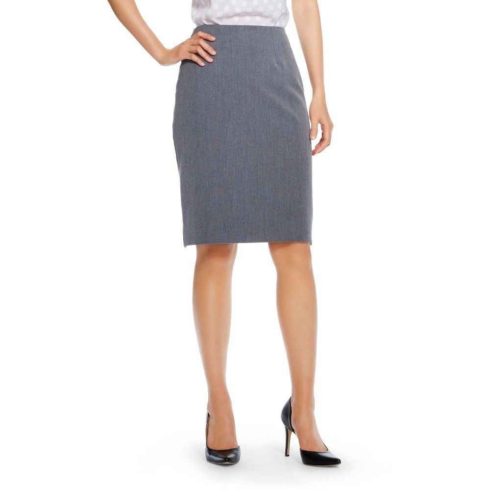 0b2514aba2 Women's Bi-Stretch Twill Pencil Skirt Heather Grey 2 - Merona ...
