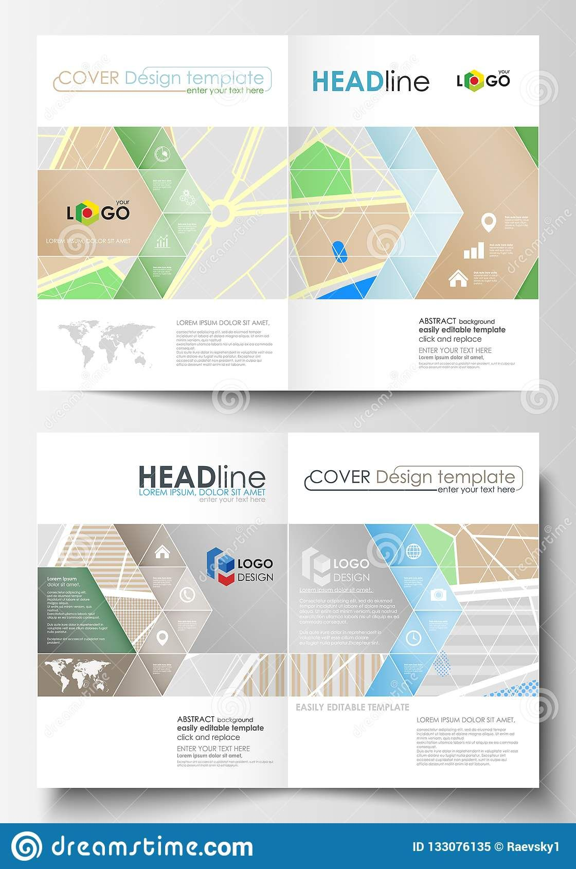 Business Templates For Bi Fold Brochure Magazine Flyer Or Inside Blank City Map Template Great Cretive Templates Bi Fold Brochure Business Template Flyer