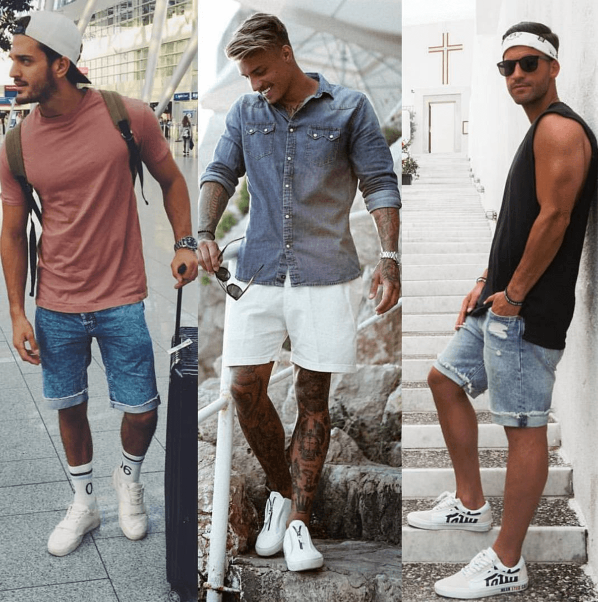 4c0b65b5ec2b men-outfits-with-denim-shorts 17 Most Popular Street Style Fashion Ideas  for Men