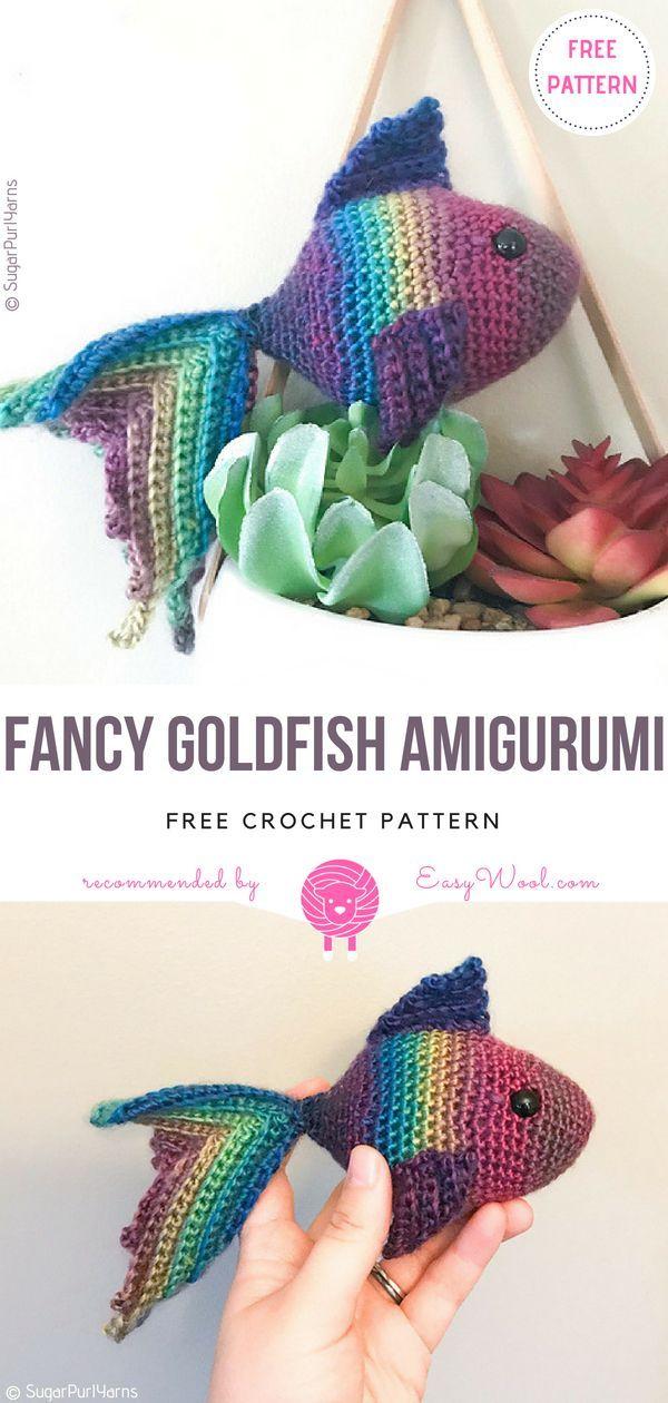 Fancy Goldfish Amigurumi Free Crochet Pattern | Amigurumi