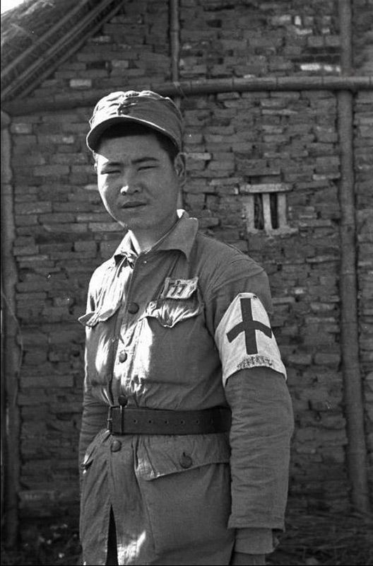 Scene In China Civil War 1949 Nationalist Soldiers Medic
