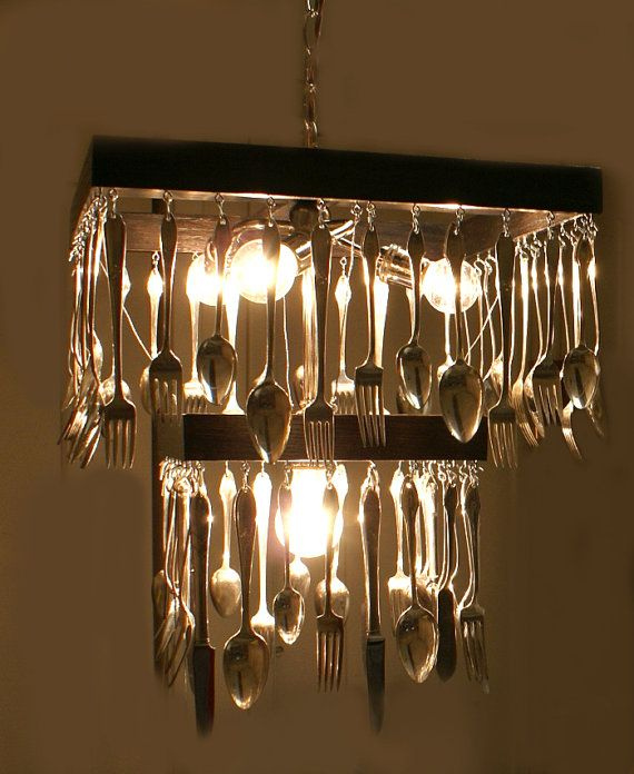 Kitchen Lighting Victoria: Custom Made To Order Silverware Chandelier Reserved For